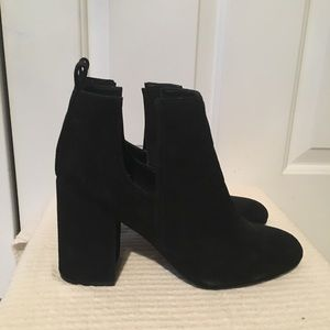Steve Madden Faux Black Suede Booties